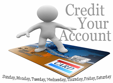 Credit your account each day with 86,400