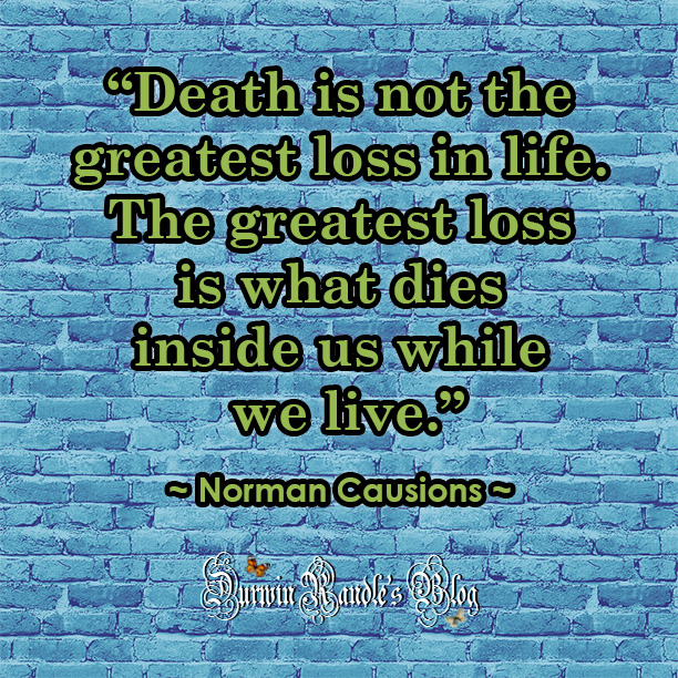 Death Is Not The Greatest Loss by Norman Causions