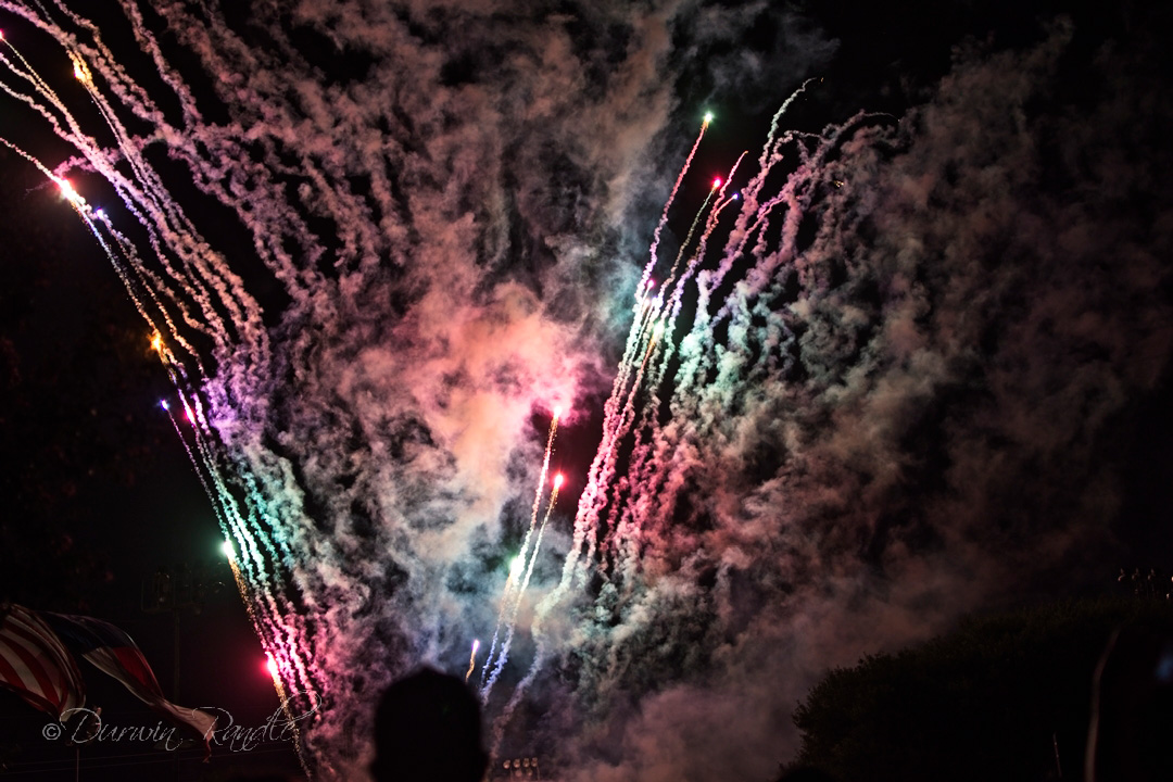 4th of July fireworks in Webster, Texas